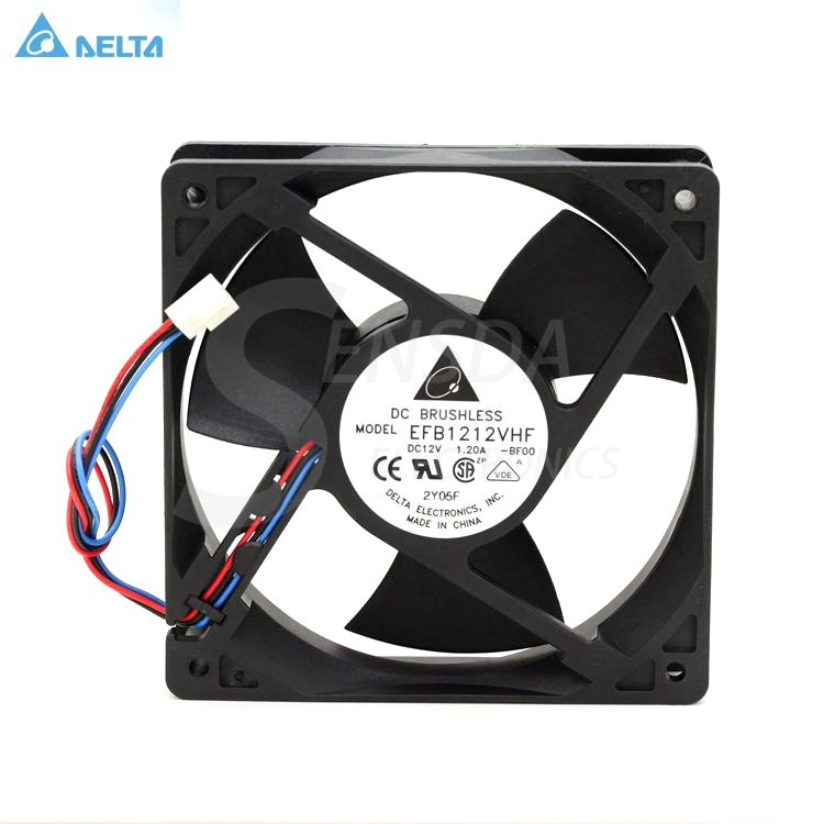 For Delta Electronics EFB1212VHF -BF00 120mm 12cm DC12V 1.20A 3-wire server inverter axial cooling fans delta 12038 120mm 12cm ffb1212vhe dc 12v 1 5a 24w 4wire violence server industrial case cooling fans