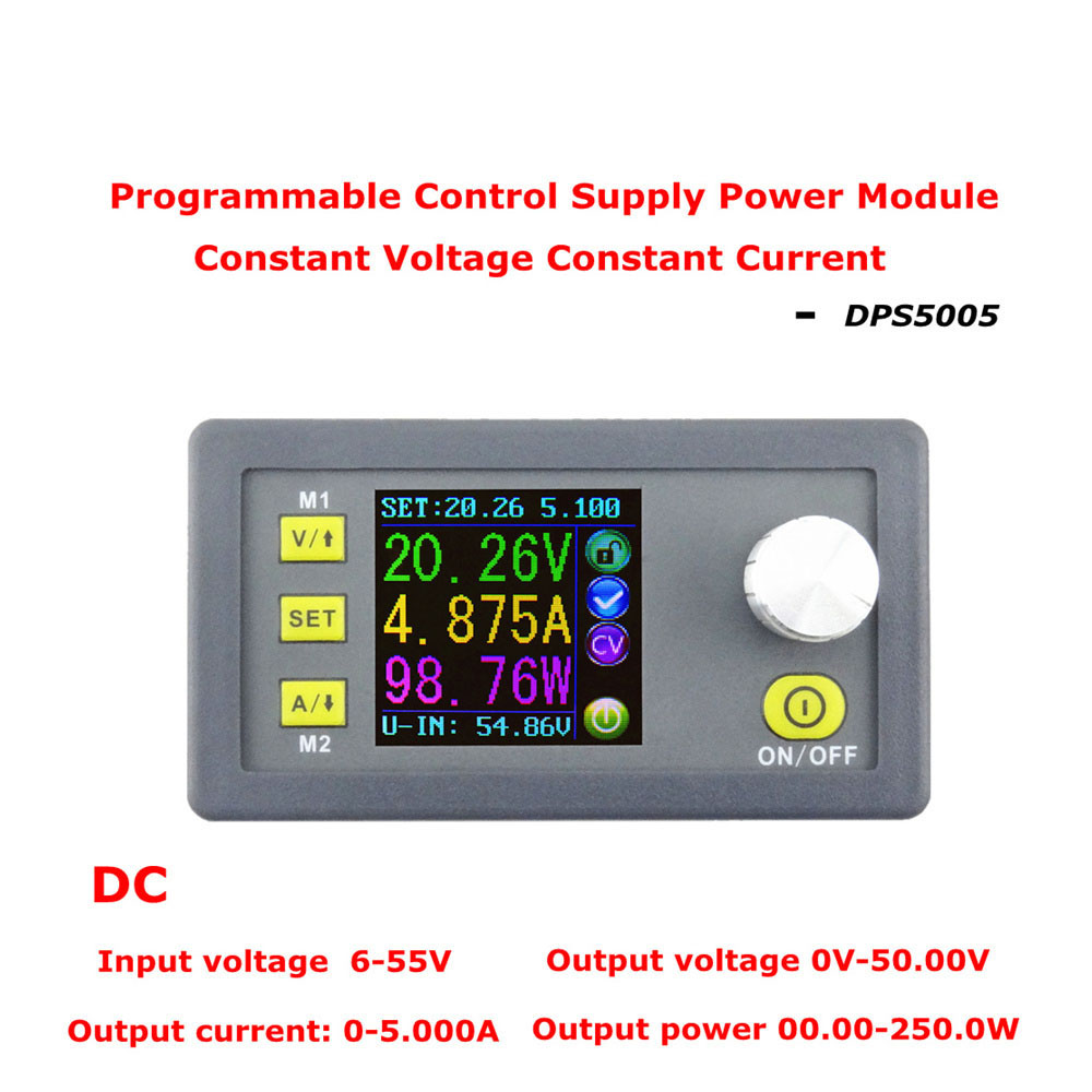 Lcd Converter Adjustable Voltage Meter Regulator 50v5a Programmable And Current Tester Power Supply Module Buck Voltmeter Ammeter In Meters From Tools