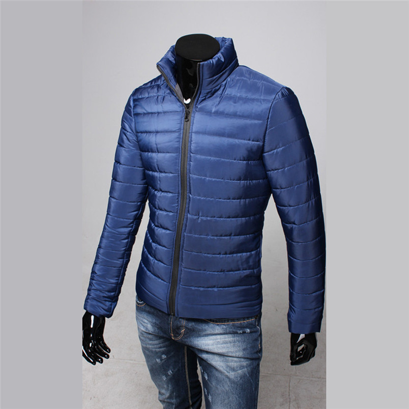 NEW Fashion Mens sports Cotton Stand Zipper Warm Winter Thick Coat Jacket Hiking Jackets Freeship #4n25 (5)