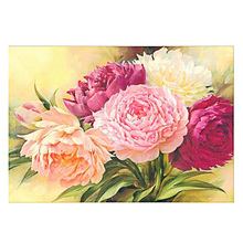 DIY Diamond Painting bunch rose Flower scene pink Embroidery flower peony Cross Stitch fulll round Home Decor