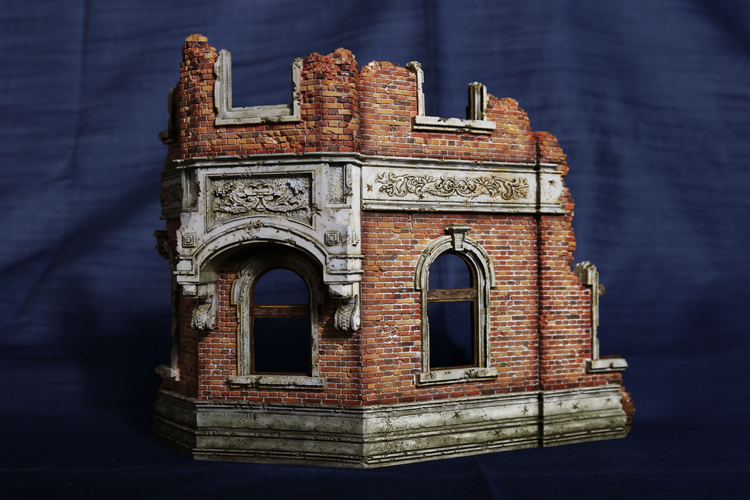 1/35 Resin European Building Model kits 01 WWII scene ruins Unpainted Free shipping DY-35001G