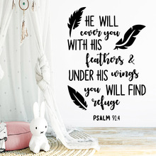 Colorful Quote Wall Art Decal Stickers Pvc Material Living Room Children Waterproof
