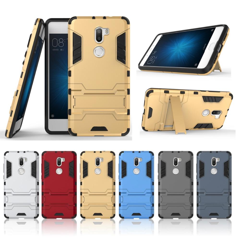 pretty nice f393a b378a Pour Xiaomi Mi 5S Plus Case 3D Silicone TPU + PC Dur Hybride Armure Stand  Antichoc Case Pour Xiaomi Mi 5S Plus Mi5s, Plus La Couverture Arrière