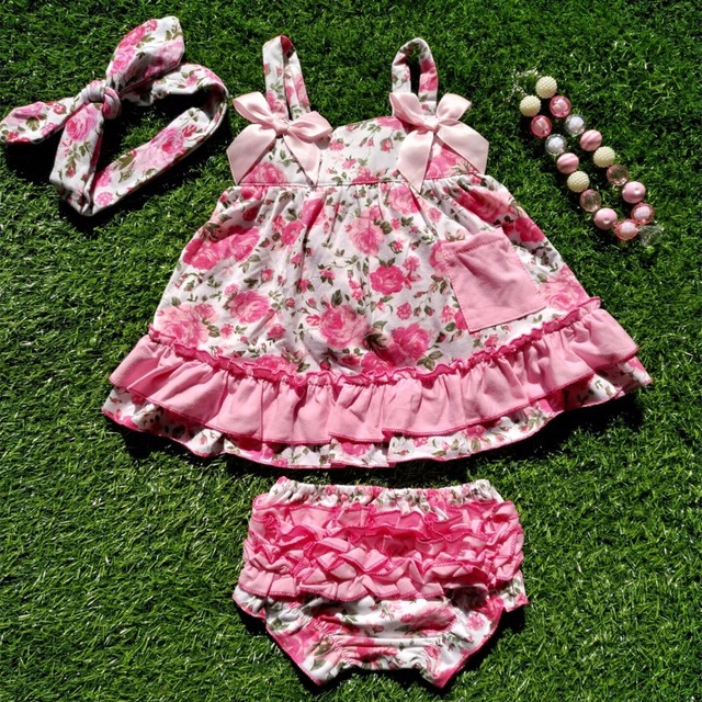 baby girl outfits baby girl clothing sets infant girl ruffled swing tops  bloomer set swing outfits swing dress necklace headband 0b4a4feb89