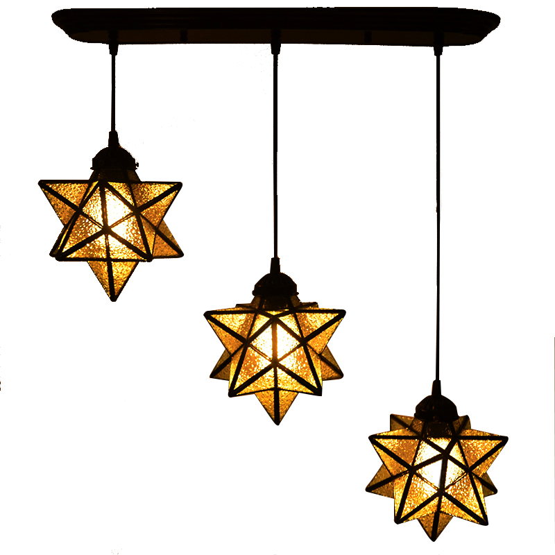 Five - star chandelier creative bar counter copper 3 - head kitchen coats room lights living room restaurant CL