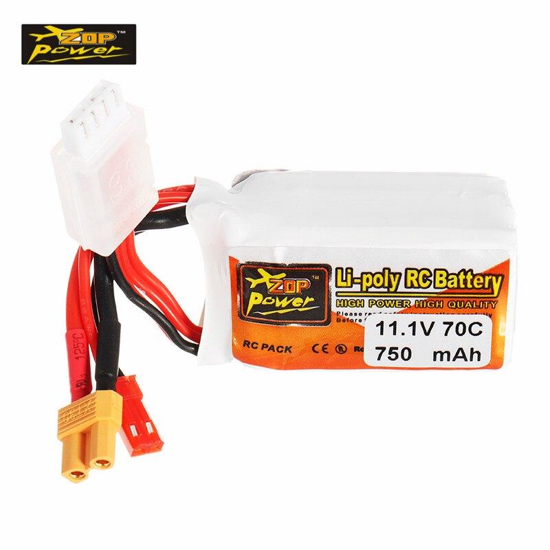 цена на High Quality ZOP Power 11.1V 750mAh 70C 3S Rechargeable Lipo Battery JST XT30 Plug for Eachine Lizard95 FPV Racer Racing Parts