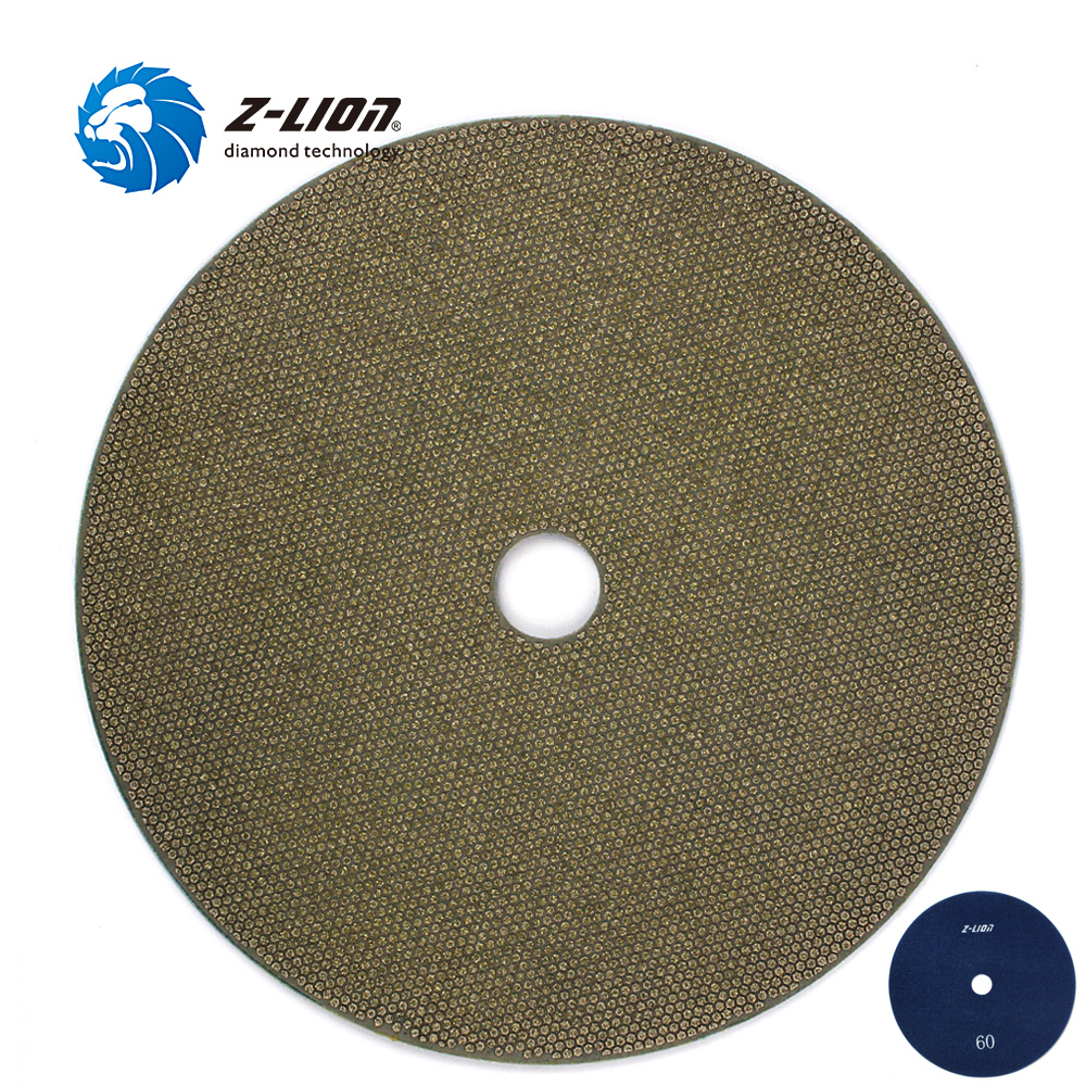 Z-LION 7 180mm Diamond Grinding Wheel Electroplated Polishing Pads Flexible Glass Tile Granite Stone Polishing Diamond Tool z lion 4 diamond cup wheel grit 30 silent core turbo cup grinding aluminum base abrasive tool for concrete granite thread m14