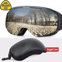 Gonex 2019 Магнитная OTG лыжные очки для сноуборда и лыж Очки Для мужчин Для женщин UV400 Защита Анти-туман со сменными объективами
