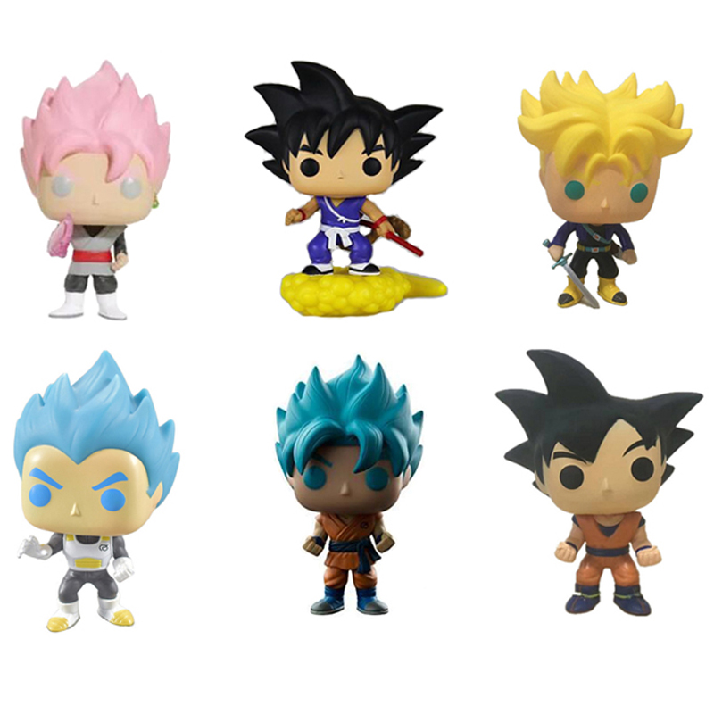 Elsadou Dragon Ball Z Super Saiya Goku Action Figures Vegeta Trunks Buu Krillin Q Version Doll Toys dragon ball z figures goku vegeta