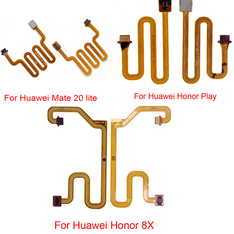 Home Button Fingerprint Touch Id Sensor Connector Flex Cable For Huawei Honor 8x / Mate 20 Lite / Honor Play Connector Ribbon