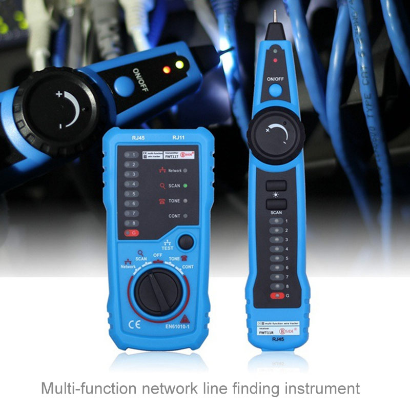Multifunctional RJ45 RJ11 Handheld Network Telephone Cable Tester Portable digital Wire line Tracker Network Testing Tools XXM8