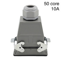 Heavy duty connector 50 core rectangular hdc hdd 050 cold pressure plug industrial waterproof plug socket 10A
