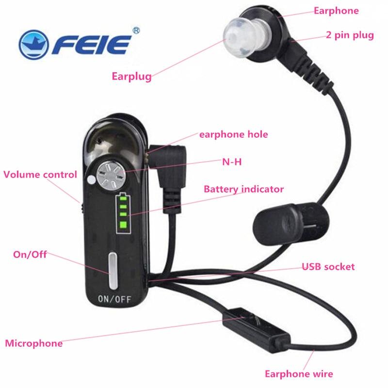 D'écoute espion appareil rechargeable à la mode écouteur aide auditive C-06 pour la vente médicale livraison gratuite