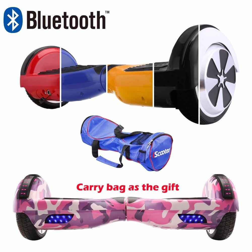 IScooter 6,5 pulgadas Hoverboard Bluetooth altavoz eléctrico Giroskuter Gyroscooter Borda Gyro dos ruedas Scooter Hover bordo