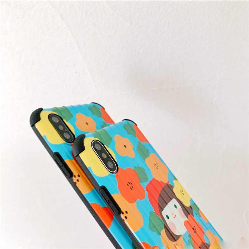 Чехол для iPhone XS MAX чемодан сундук TPU + PC чехол для iPhone X 10 8 7 6 6S Plus Coque