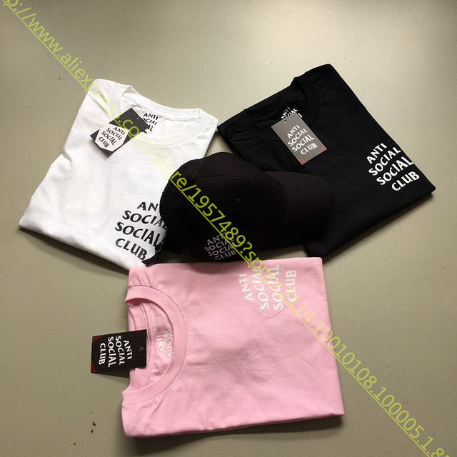 2016 Summer Anti Social Social Club T Shirt ASSC Classic Design Basic Letter Slogan Short Sleeve T-shirt Yeezue Tee