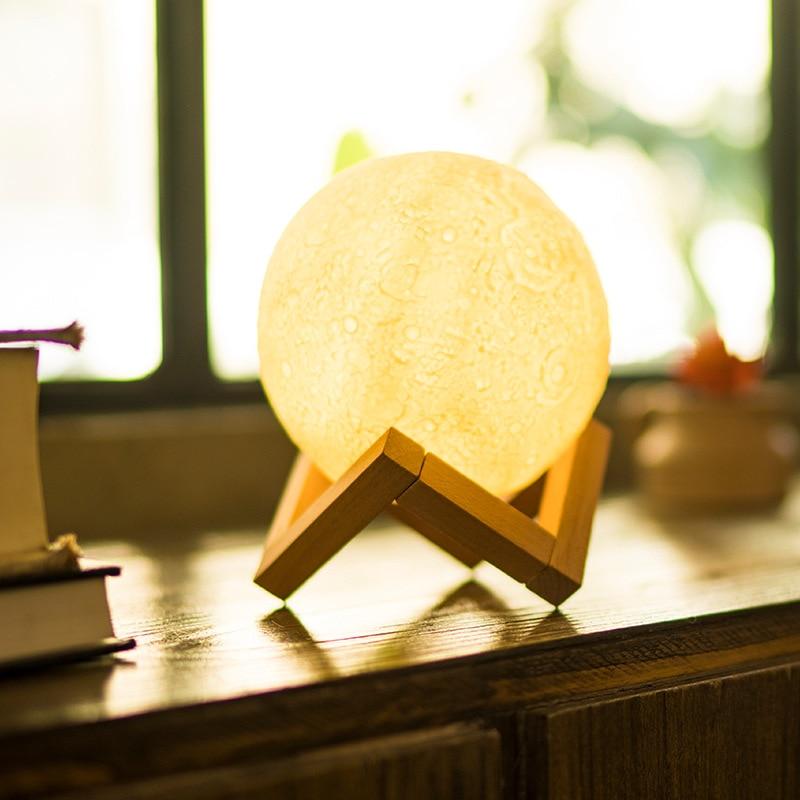 13cm/18cm 3D Moon Lamp Remote Control Pa