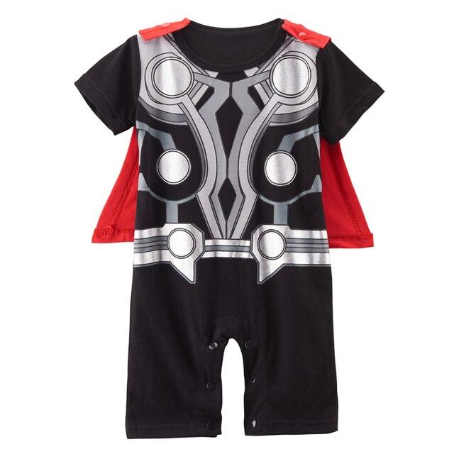 3cbb16775f3b Baby Boy Thor Costume Romper Infant Babygrow Cute Playsuit 0 24 ...