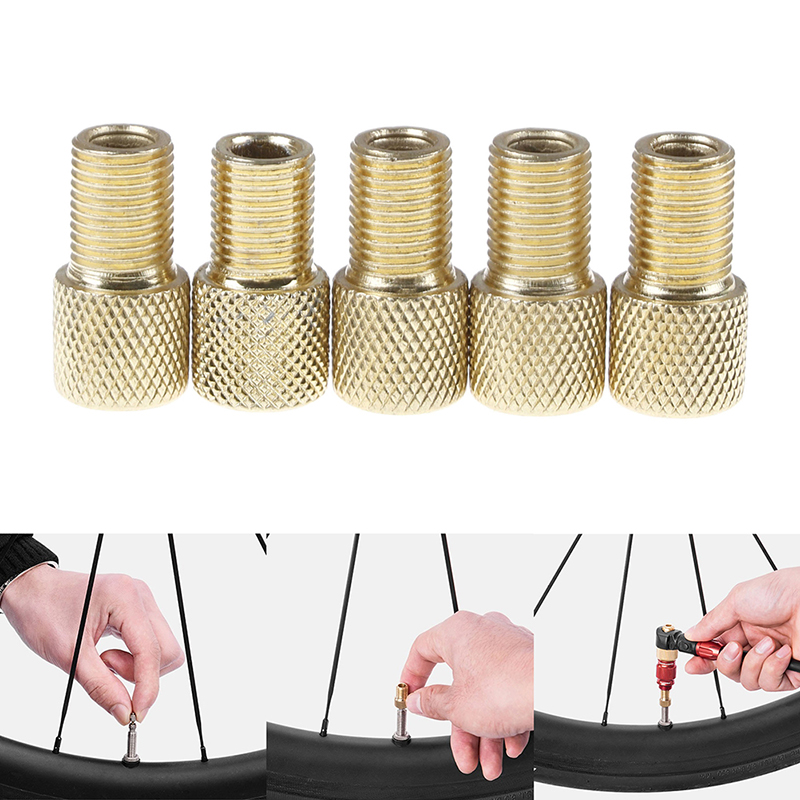 1pcs/5pcs Useful Bike Tire Bike Valve Type Adaptor Valve Adapter Cap Inner Tubes Pump France Us Mouth Hot Sale Fragrant Aroma