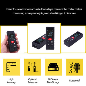 Image 5 - 40 100 M Lazer Işını Mesafe Ölçer Dijital Telemetre Elektronik şerit metre Bulucu Trena Sinyal Alıcısı Dikey Kabarcık