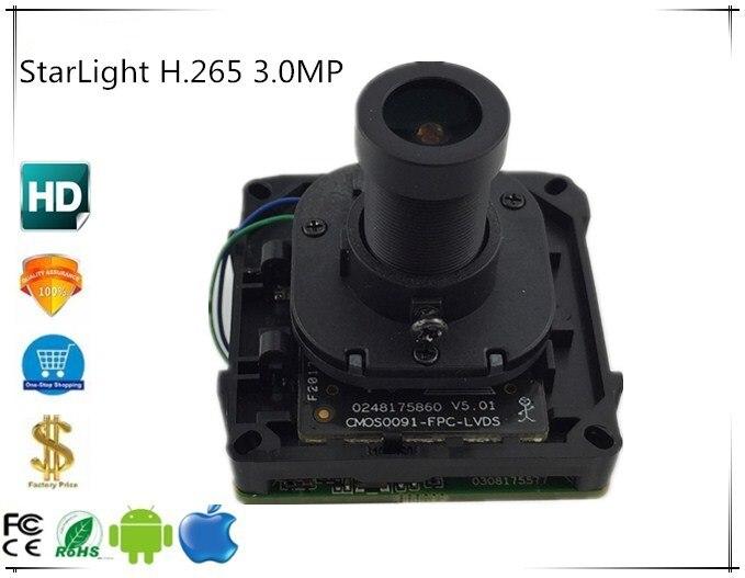 StarLight H 265 3 0MP 2048 1536 Sony IMX291 3516C IP Intelligent Camera Module Board with