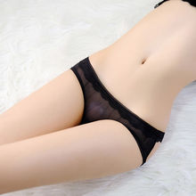 цена на Sexy Women Panties Low-waist Strappy Briefs Hollow Out Bowless Hip Briefs Transparent G Strings Sex Toys for Woman Bikini