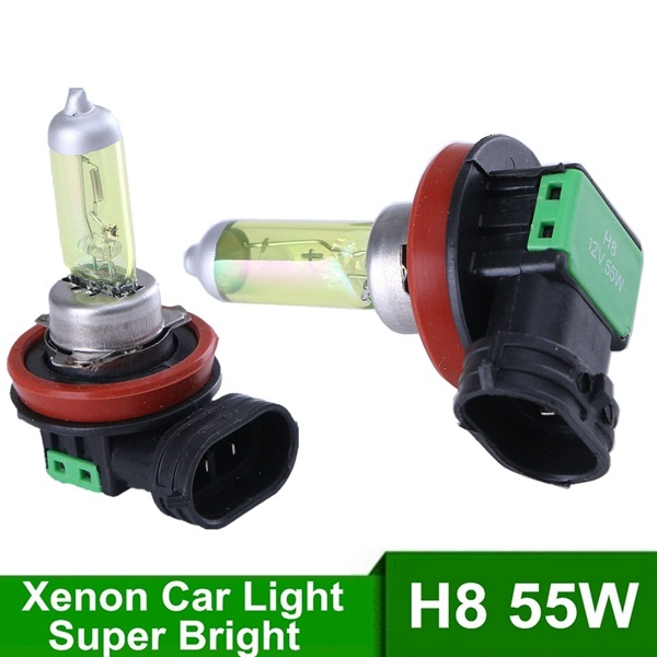 New 1set H8 12V 55W Car Fog Xenon Headlight 4300K Amber Yellow Light Source Lamp Bulbs with Retail Box Bengear Wholesale  new 1set hb3 9005 12v 65w 3000 3500k amber yellow car halogen xenon headlight light bulb lamp with retail box bengear dropship