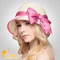 2016 New Wide Brim Sun Hat Red Orchid Flower Floppy Hats For Women Lovely Summer Beach Cap Original Blue Floral Straw Hat B-2314