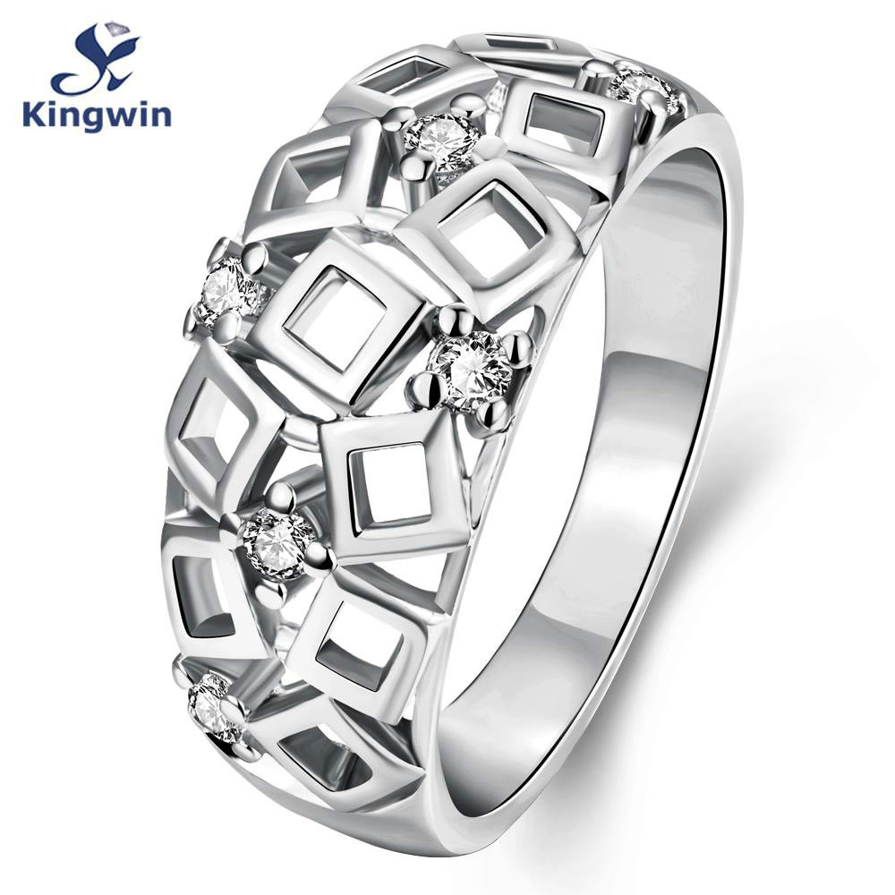 kingwin newest designer wholesale fashion jewelry famous brand pure gold color luxury women wedding ring jewellery