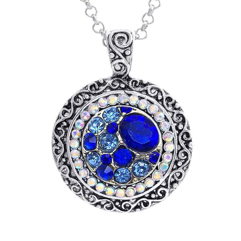 hot sale 240 flower 18mm rhinestone Snap button necklace Pendant jewerly Necklaces for women Charm jewelry Gift