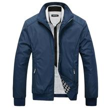 New Arrival 2016 Men's Jacket Male Overcoat Casual Slim Fit Mandarin Collar Solid Waterproof Jackets M-XXXL Men Jackets coats