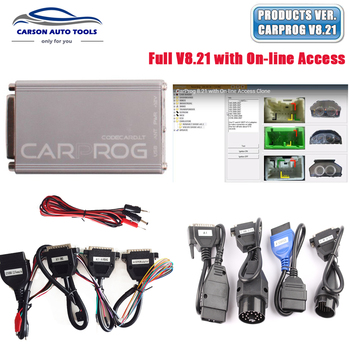 Carprog Full V8.21 Firmware Perfect Online Version with All 21 Adapters Including Much More Authorization DHL free shipping