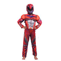 Костюм Супермена для мальчиков; Детский костюм супергероя, мускула, грома, красного цвета; вечерние костюмы для косплея на Хэллоуин; Карнава...
