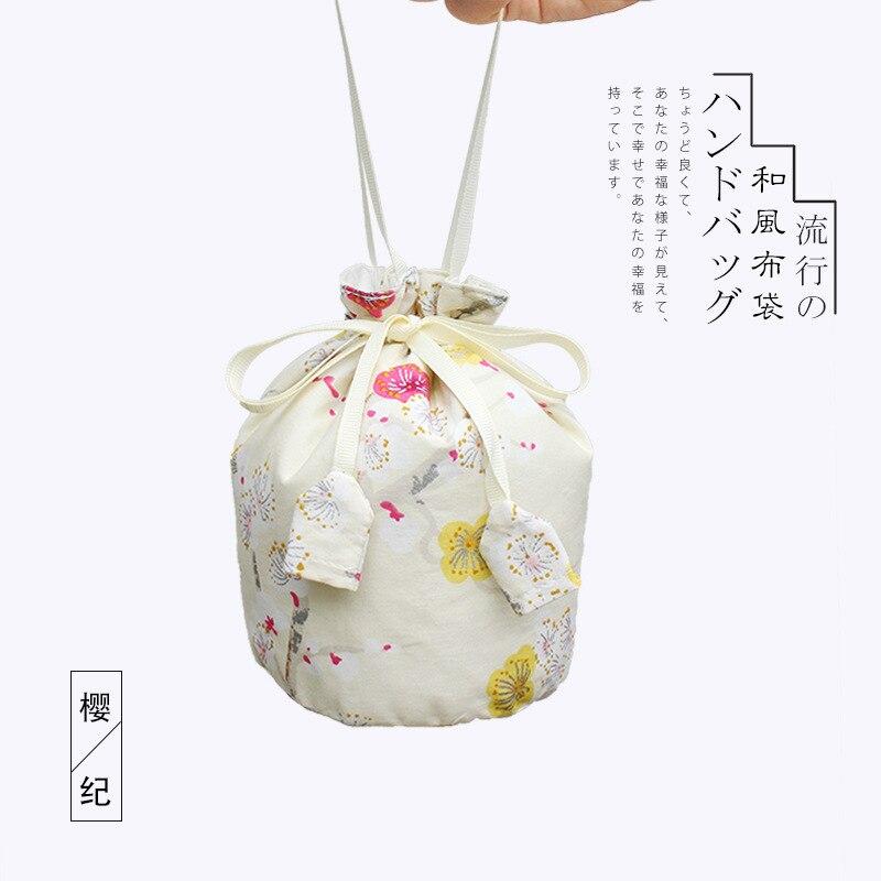 Estilo japonês clássico saco de mão feminina