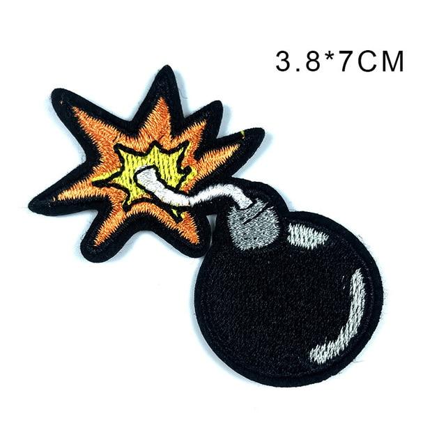 Cartoon Bomb  Iron-Sew On Biker Patch No415