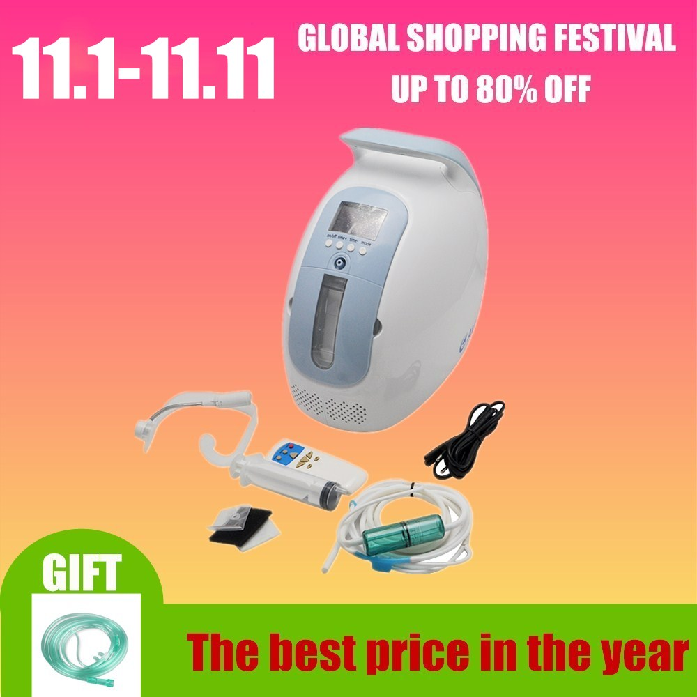 XGREEO medical portable oxygen concentrator generator home with adjustable 1-5LPM adjustable oxygen purity oxygen tank