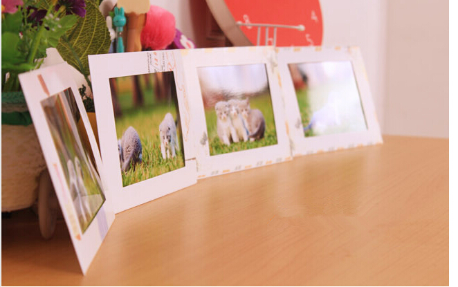 vintage 4x6 inches wall frame paper photo frames with wood clips and hemp ropes for home