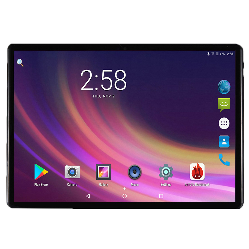 Super Tempered 2.5D Glass 10 inch tablet Android 7.0 Octa Core 4GB RAM 32GB ROM 8 Cores 1280*800 IPS Screen Tablets 10.1 + Gift(China)
