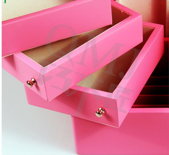 NEW Luxury Small Wooden Table Top Pink Jewelry Storage Cabinet ...
