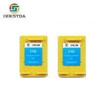Obestda compatible for hp 110 XL CB304A INK cartridge for Photosmart A310 A516 A616 A716 A526 A626 A716 A617 A618 A612 A311 A314