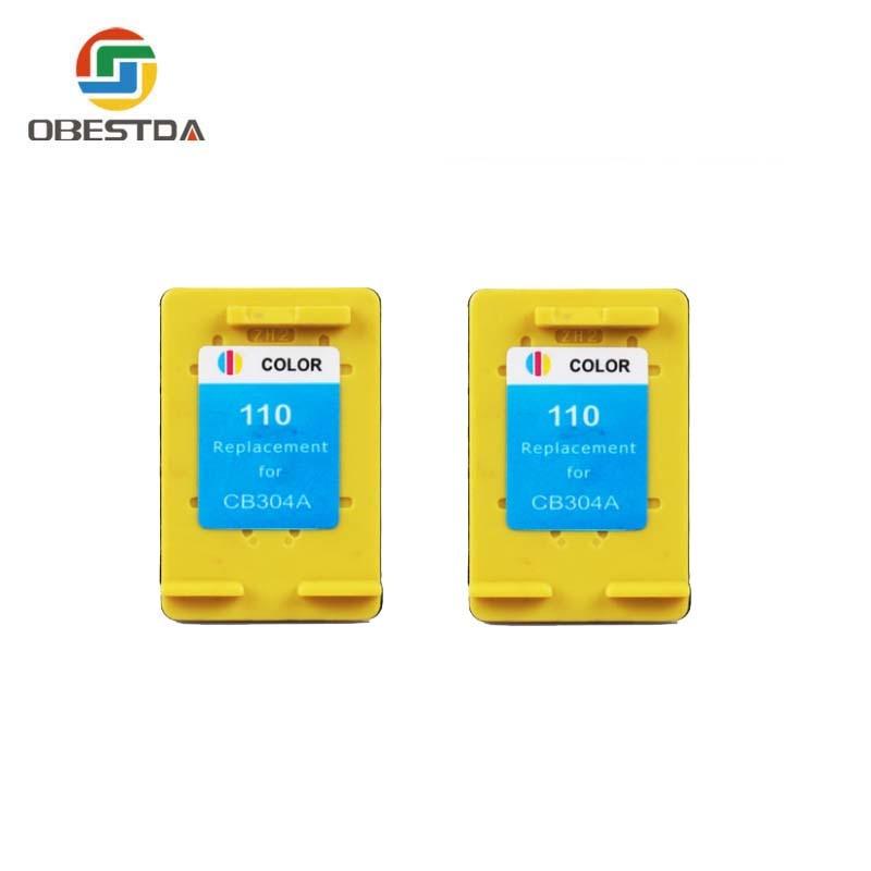 Obestda compatible pour hp 110 XL CB304A cartouche D'ENCRE pour Photosmart A310 A516 A616 A716 A526 A626 A716 A617 A618 A612 A311 A314