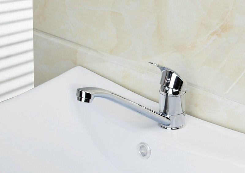 Hot Cold Water Long Swivel Spout Swivel Chrome Deck Mount 8393 21 Single Handle Sink Kitchen