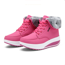 Новые зимние женские бархатные Обувь для танцев зимние ботинки на платформе Для женщин Термальность с хлопковой подкладкой Обувь Ботильоны на плоской подошве
