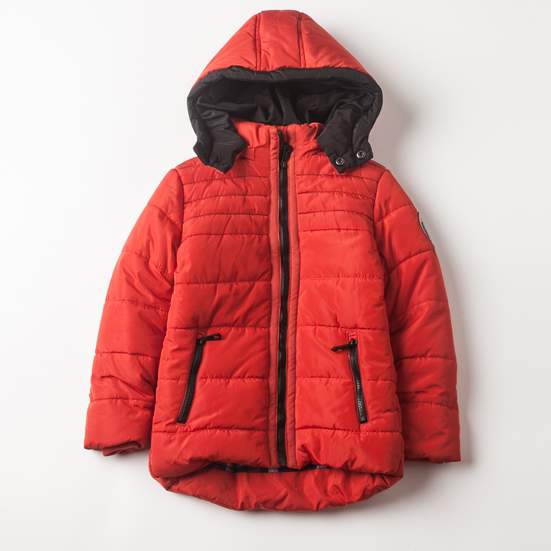 ФОТО  Autumn And Winter Boys Fashion Llong-Sleeved Warm Jacket Boys With Hooded Thick Cotton Down Even Down Jacket 3-8 Years