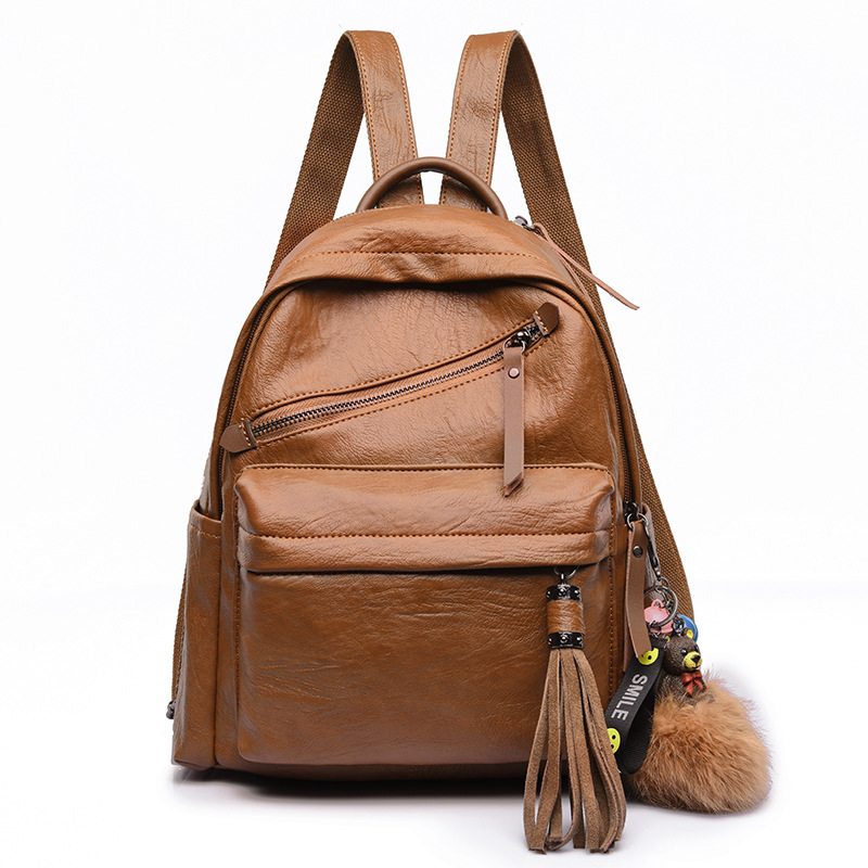 Amasie Women Backpacks Hot Sale Fashion Causal Bags High Quality Bead Female Shoulder Bag Leather Backpacks