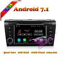 Wanusual 2G 16GB Android 7 1 Quad Core Car DVD Player For Mazda 3 2004 2005