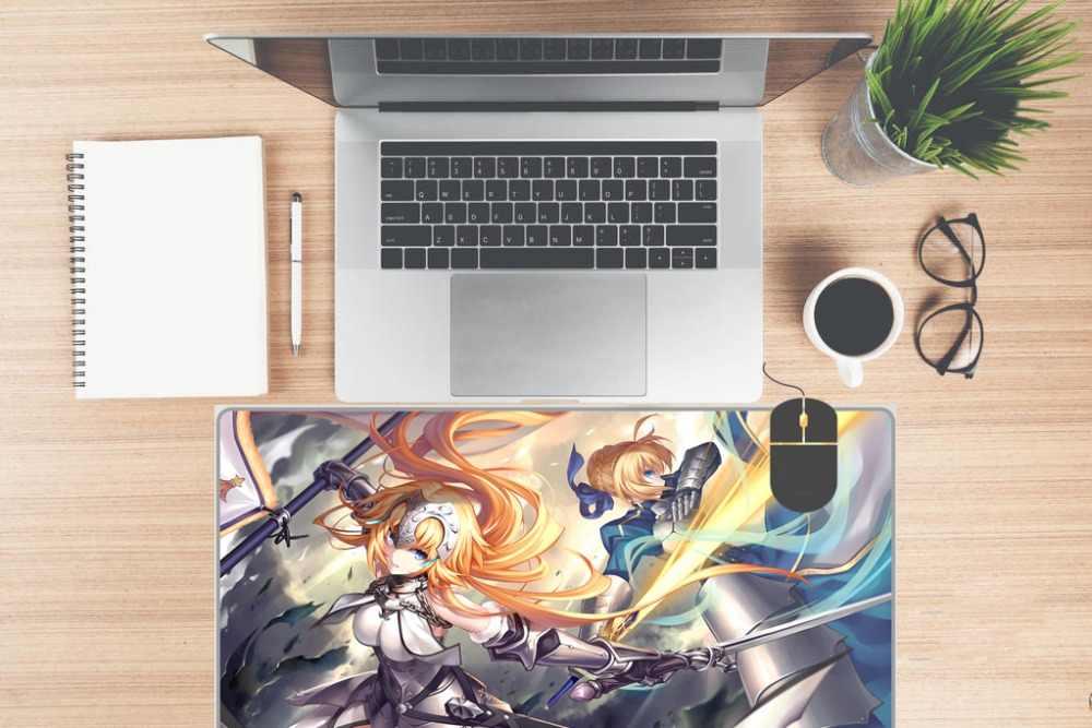 Otaku podkładka pod mysz do gier Playmat japonia anime Tanya von Degurechaff większa podkładka pod mysz z klawiaturą