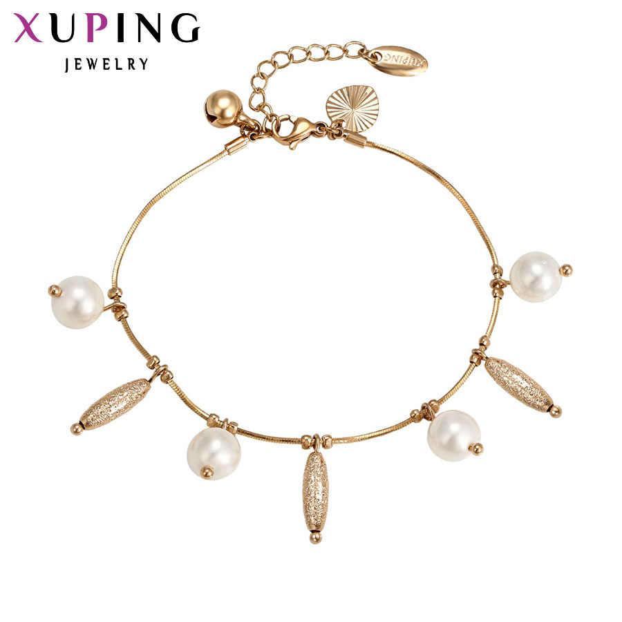 Xuping Модный Браслет Новое поступление элегантные женские браслеты дружбы золотой