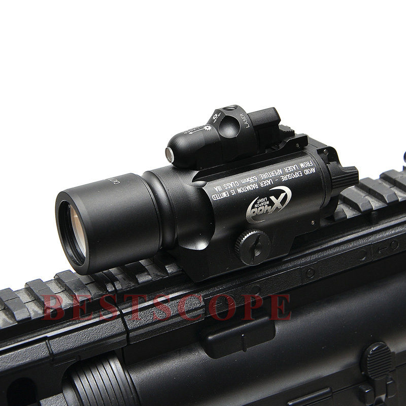Surefire LED Weapon X400 Tactical Red Laser Sight Handgun Flashlight Weapon Light For Outdoor Hunting x300 ultra led weapon light for outdoor tactical hunting hunting shooting free shipping