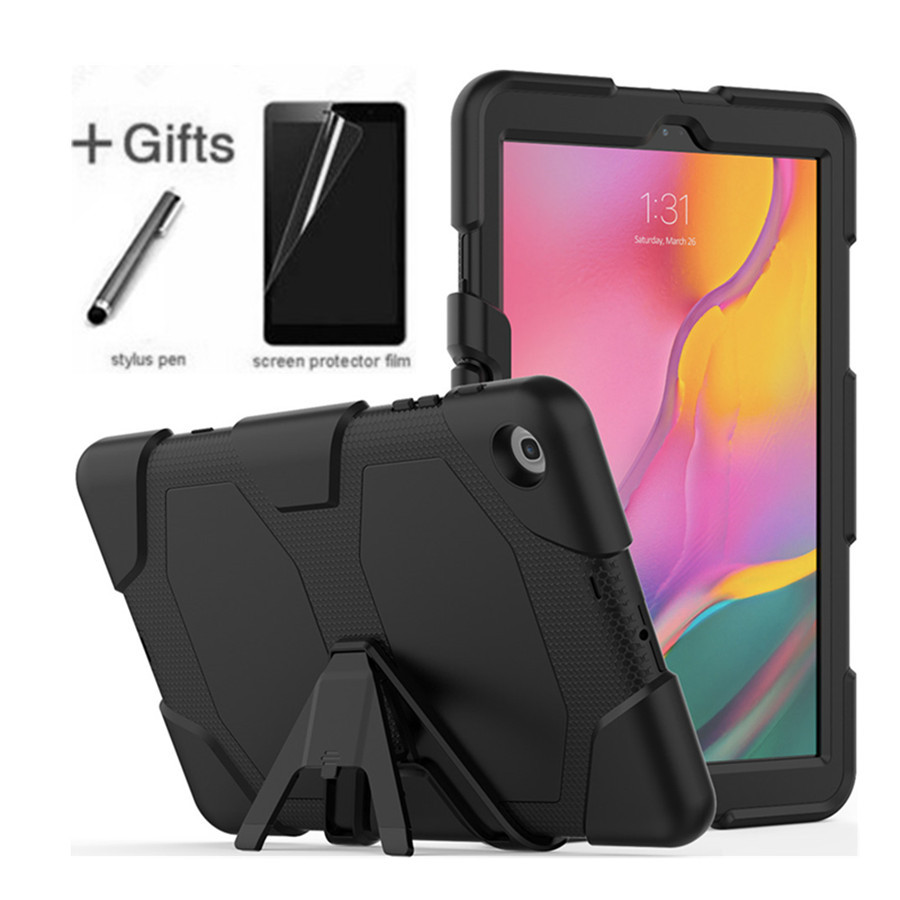 For Samsung Galaxy Tab A 10.1 2019 T510 T515 SM-T510 Tablet Shockproof Hard case Military Heavy Duty Silicone Rugged Stand Cover image
